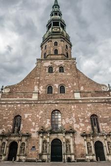 라트비아의 수도 리가의 성 베드로 교회