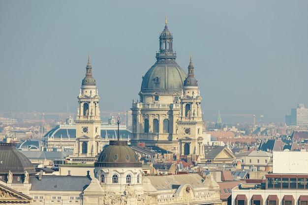 St stephenã¢â€â™s basilica in budapest aerial view