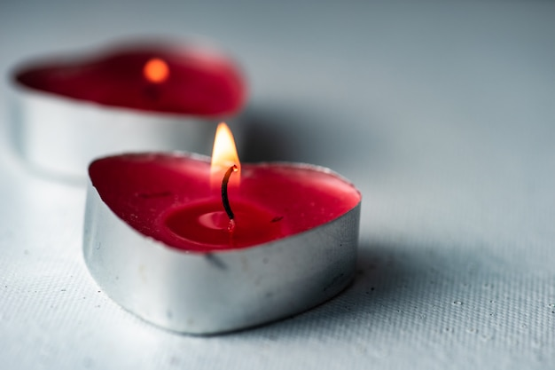 St. valentine day concept with candles