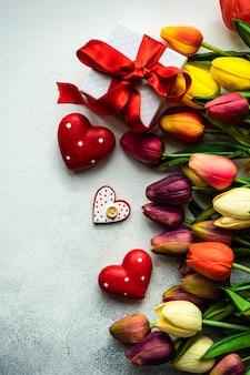 День святого валентина концепция с цветами