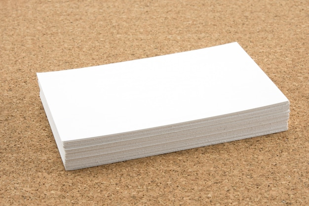 Stack of blank white business card