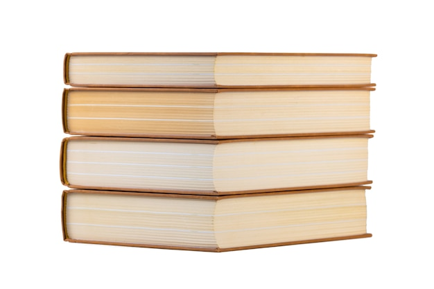 Stack of books isolated on a white. education