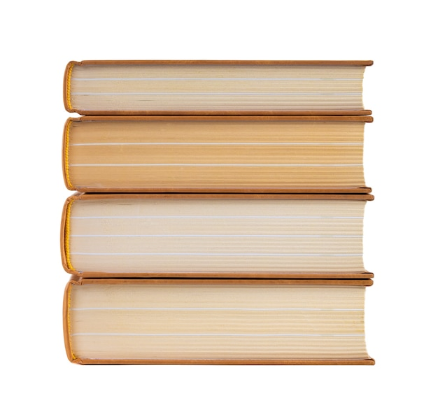 Stack of books isolated on a white