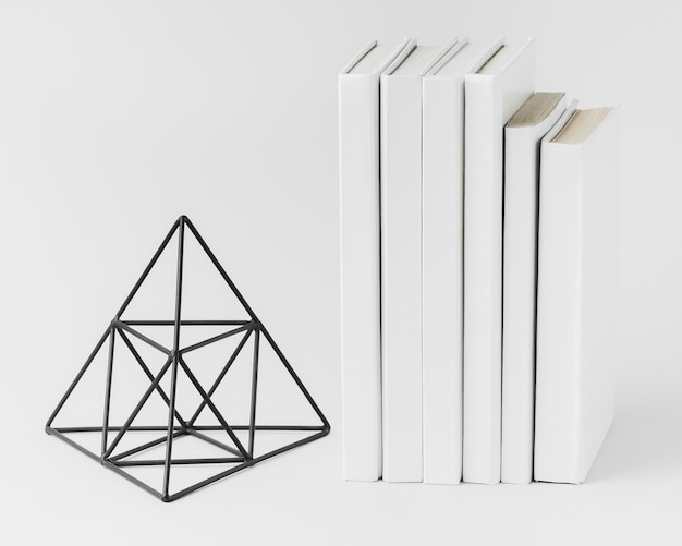 Stack of books with 3d ornament