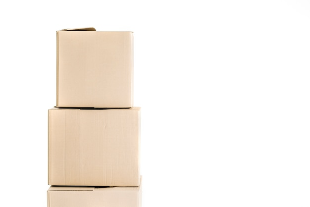 Stack of carton boxes