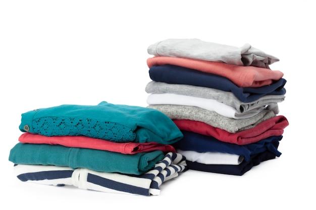 Stack of clothes, closeup