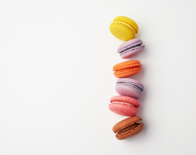 Stack of colorful baked macaron