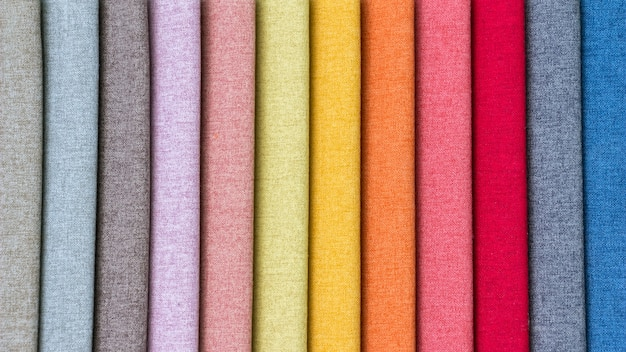 A stack of colorful fabric.