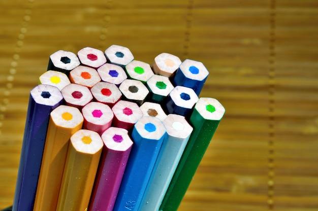 Stack colour pencils