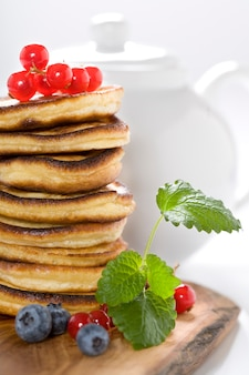 Stack of freshly prepared pancakes