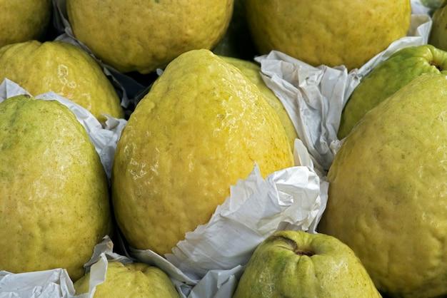 Stack of guavas at market
