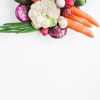 Stack of healthy vegetables