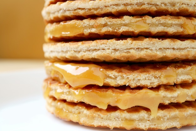 Stack of mouthwatering stroopwafel