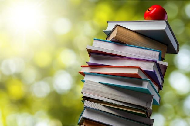 Стопка книг, изолированные на фоне.