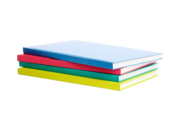 Стопка книг, изолированные на белом фоне