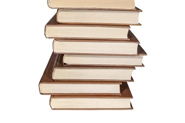 갈색 책의 스택