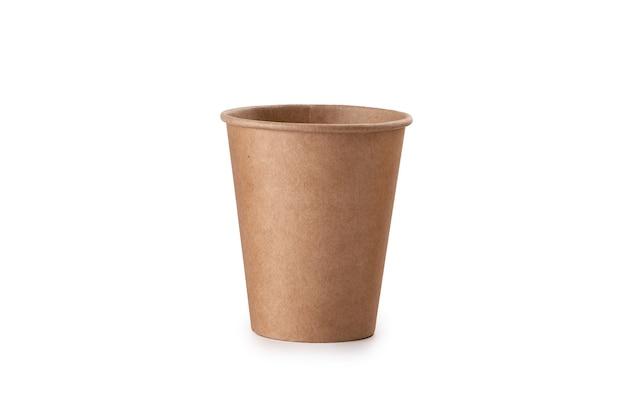 Стопка крафт-бумаги для чашек для кофе. экологичная чашка на вынос.
