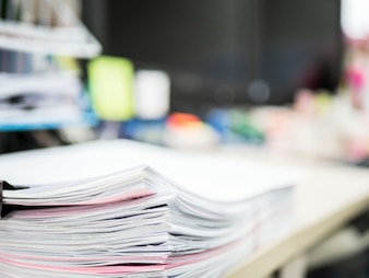 Stack of document on the table, business concept