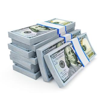 Стек долларовых купюр
