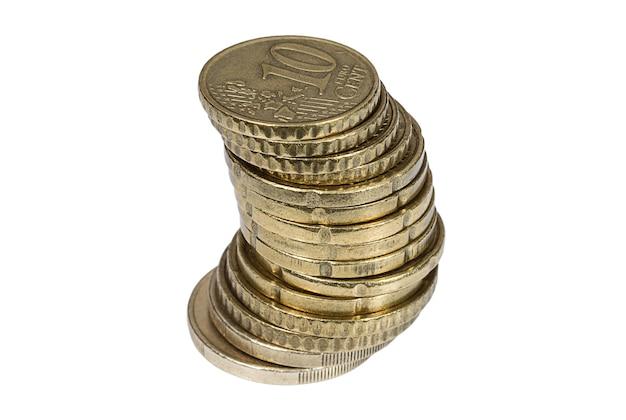 Стек монет евроцентов