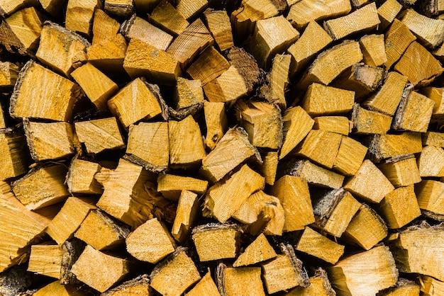 薪の背景のスタック