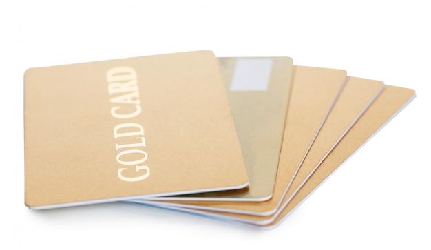 Стек золотой кредитной карты