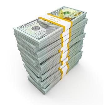 Стек из новых 100 долларов сша 2013 года выпуска банкнот