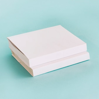 Stack of white books