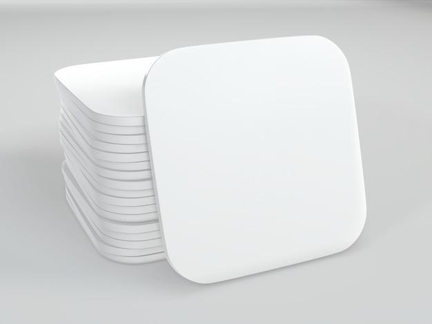 Стек белые квадратные подставки