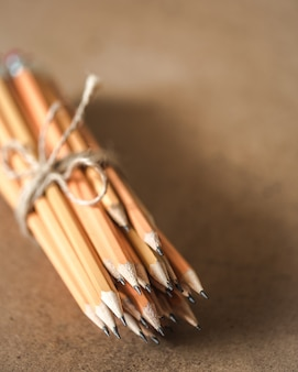 A stack of pencils