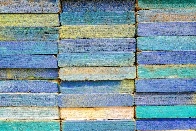 Stack of square wood planks for furniture materials