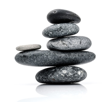 The stack of stones spa treatment scene zen like concepts.