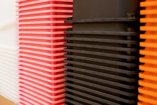 Цветная пластиковая контейнерная коробка stack storage logistic бизнес