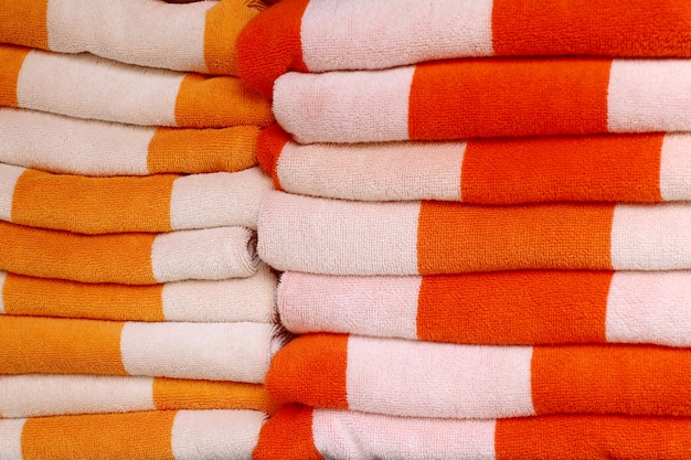 Stack towels by the pool