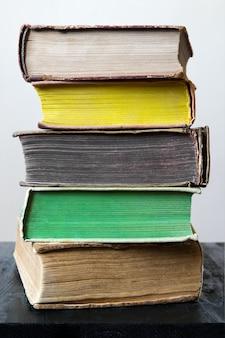 Stack of vintage books