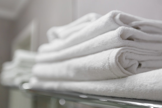 Stack of the white towel