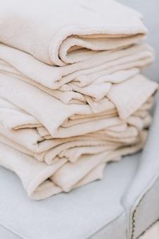 スタック羊毛毛布秋のコンセプト