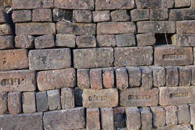 Stacked gray stone bricks