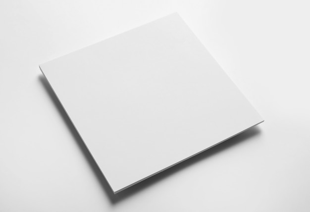 Stacked sheets of paper on white background. mock up for design