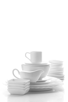 Stacked tableware collection