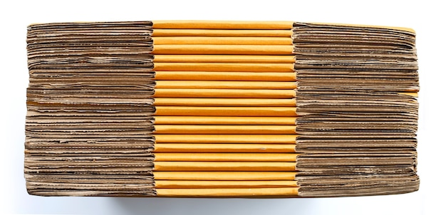 Укладка картонных коробок, предпосылка текстуры гофрированной бумаги.