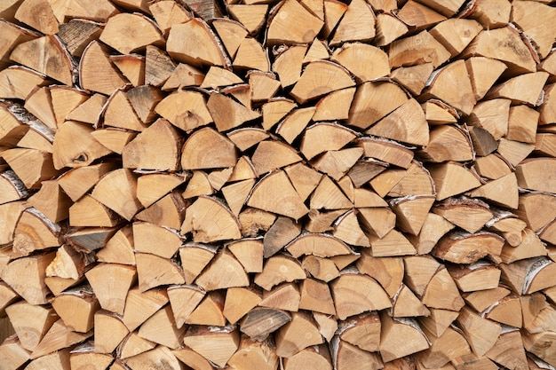 Stacks of firewood