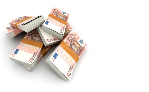 50ユーロのスタック