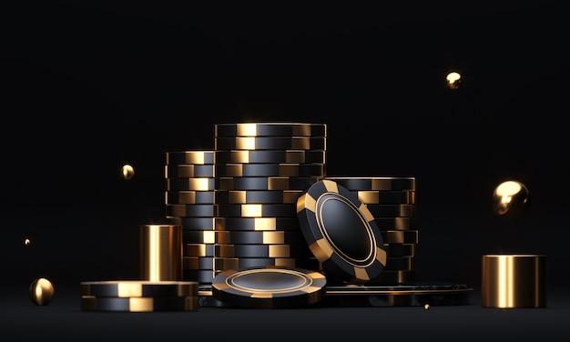 Стеки покерных фишек