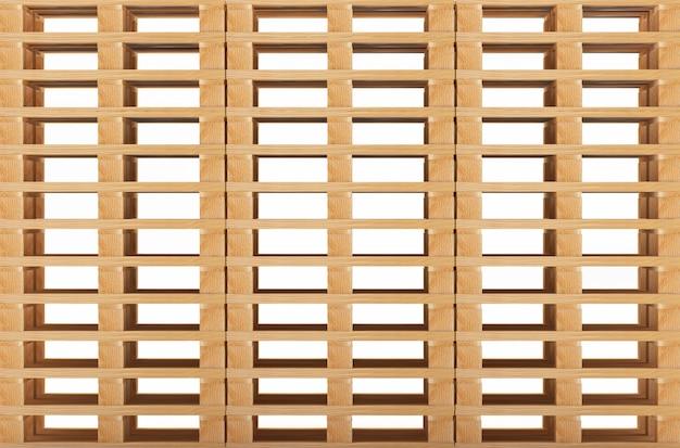 Стеки деревянных пустых поддонов