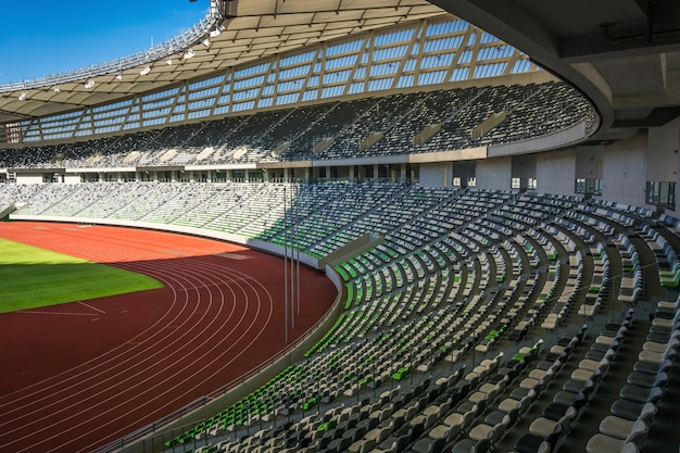 Stadium seats perspective