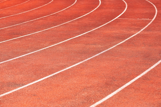 Stadium track for running and athletics competitions.