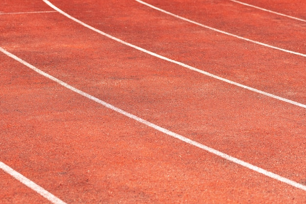 Stadium track for running and athletics competitions