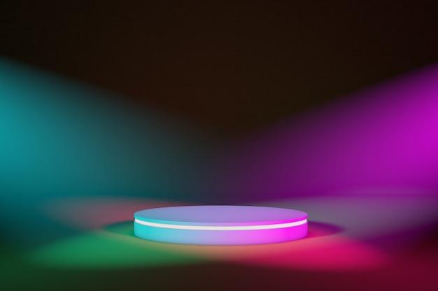 Сценический подиум с цветным освещением