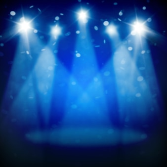 Stage spotlight with rays